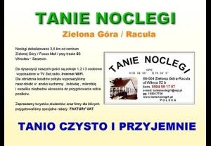 Tanie Noclegi Zielona Góra /Racula przy Orliku -5388